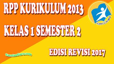 Download RPP kelas 1 SD Kurikulum 2013 Revisi Terbaru Semester 2 Lengkap