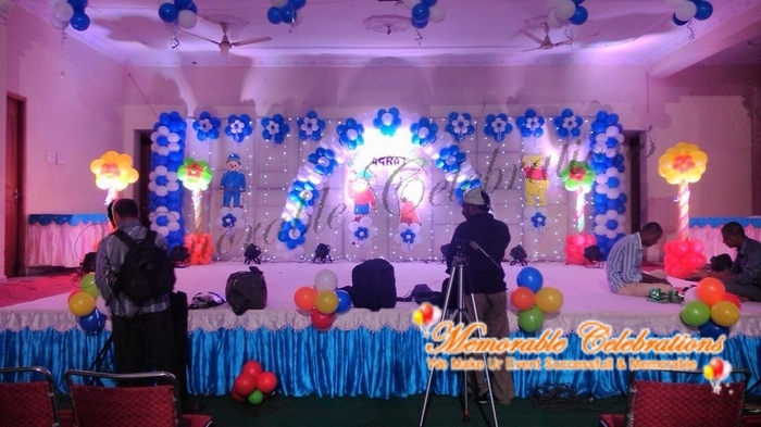 Cradle ceremony decorations march 2016 for Balloon decoration birthday party hyderabad