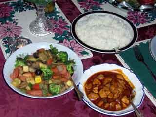 Asian Cajun stir fry served
