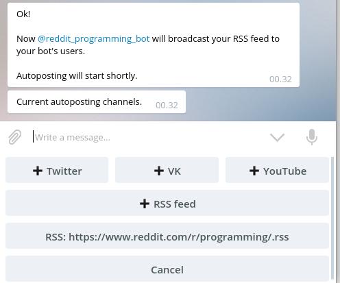 Penambahan RSS Feed berhasil