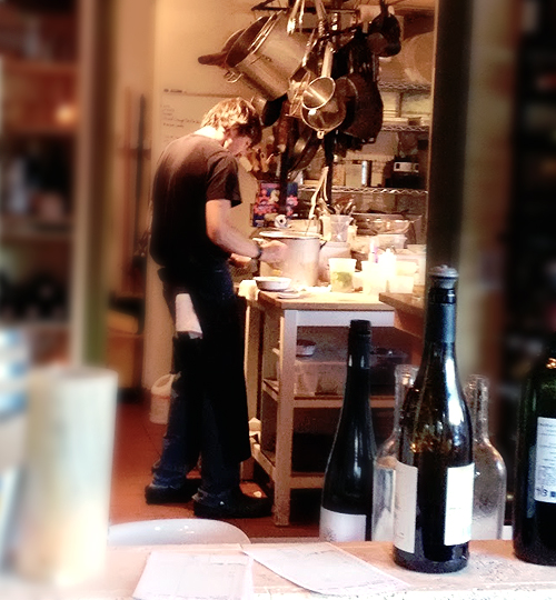 a chef at work in his kitchen