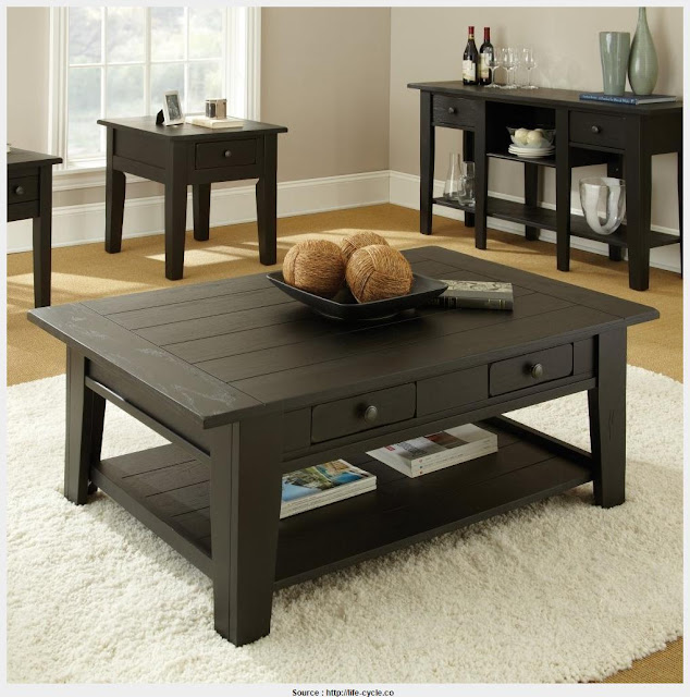 Great Black Side Table With Storage HD