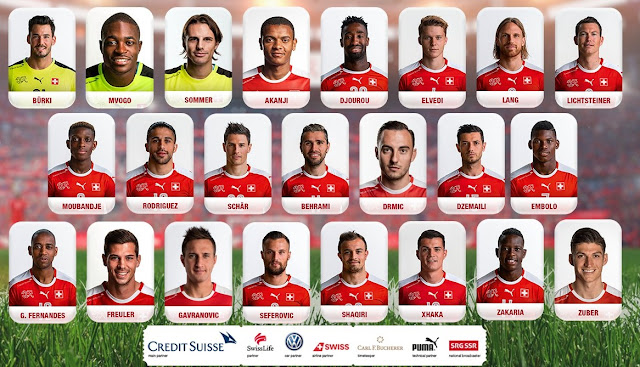 Switzerland publishes the final list for Russia 2018 including 4 Albanians