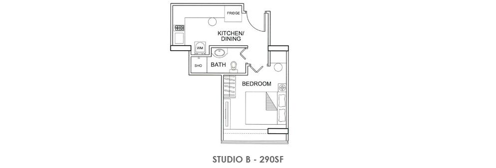 Fortville Studio B Floorplan