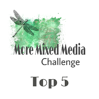 More mixed media Challenge - Green Challenge 2018