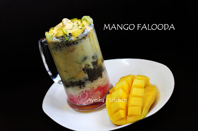 mango falooda recipe desserts recipe with fruits kerala falooda icecream recipes fruit salad ayeshas kitchen
