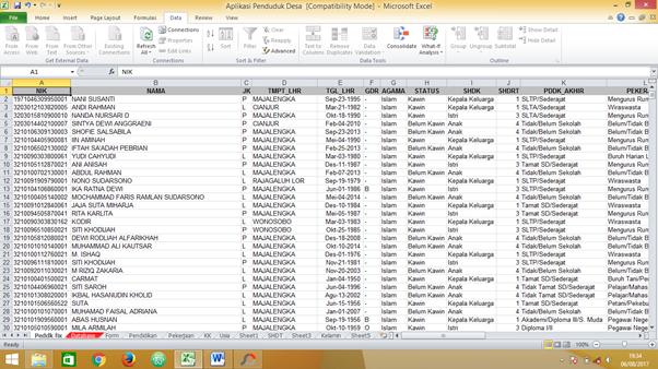 Formula Excel Untuk Mengisi Profil Desa Administrasi Desa
