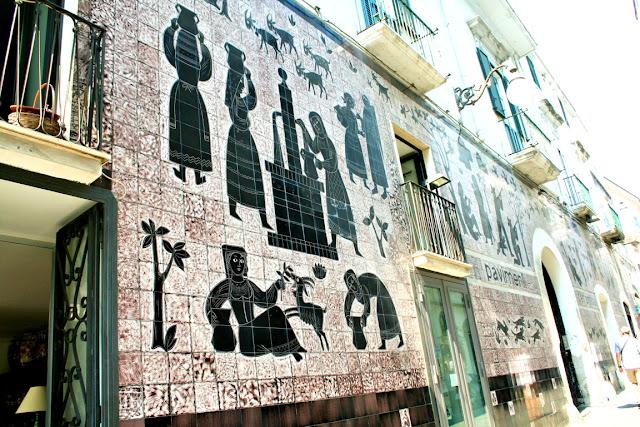 muro, ceramica, disegni