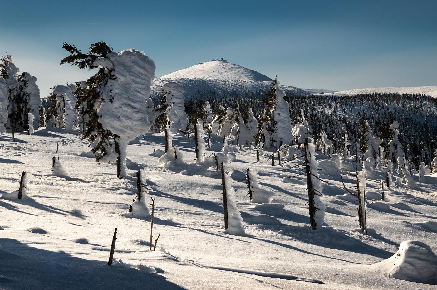 Śnieżka Karkonosze Zima