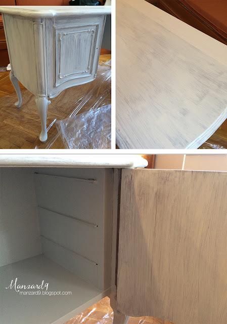 How to turn a dressing table into a double vanity - DIY tutorial - painting