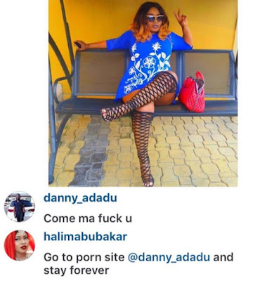 See Halima Abubakar's Reply To Guy Who Requested Sex From Her