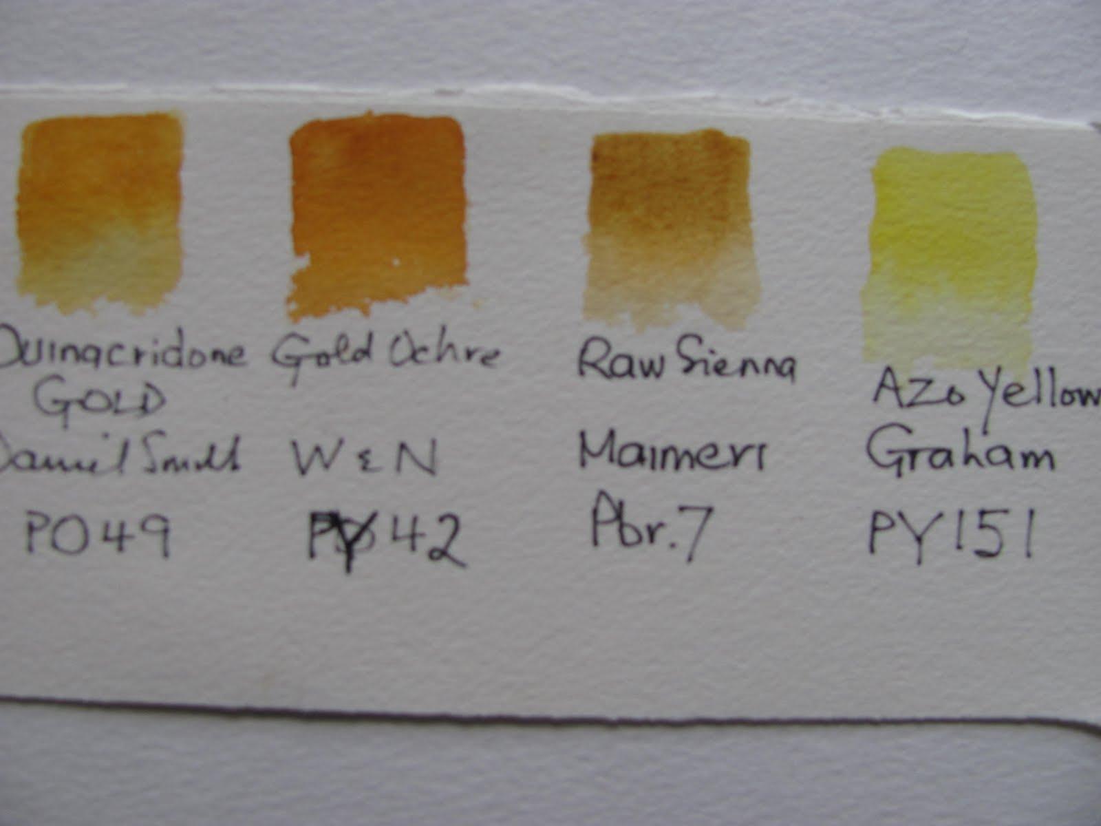 The Watercolour Log Quinacridone Gold Pigment Po49 2