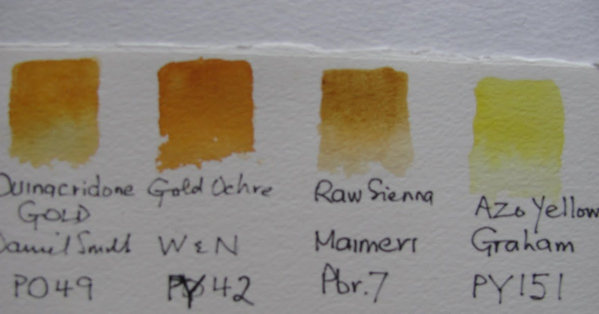 The Watercolour Log Quinacridone Gold Pigment Po49 2