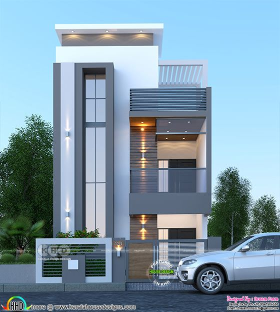 2250 sq-ft 4 bedroom duplex house rendering