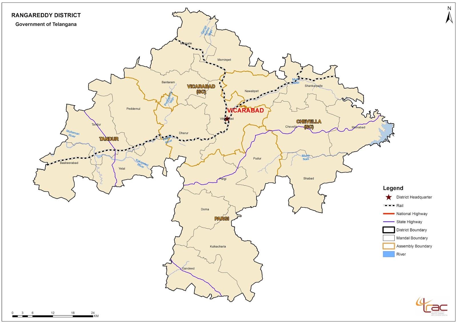 Rangareddy District Revenue Divisions Mandal Information