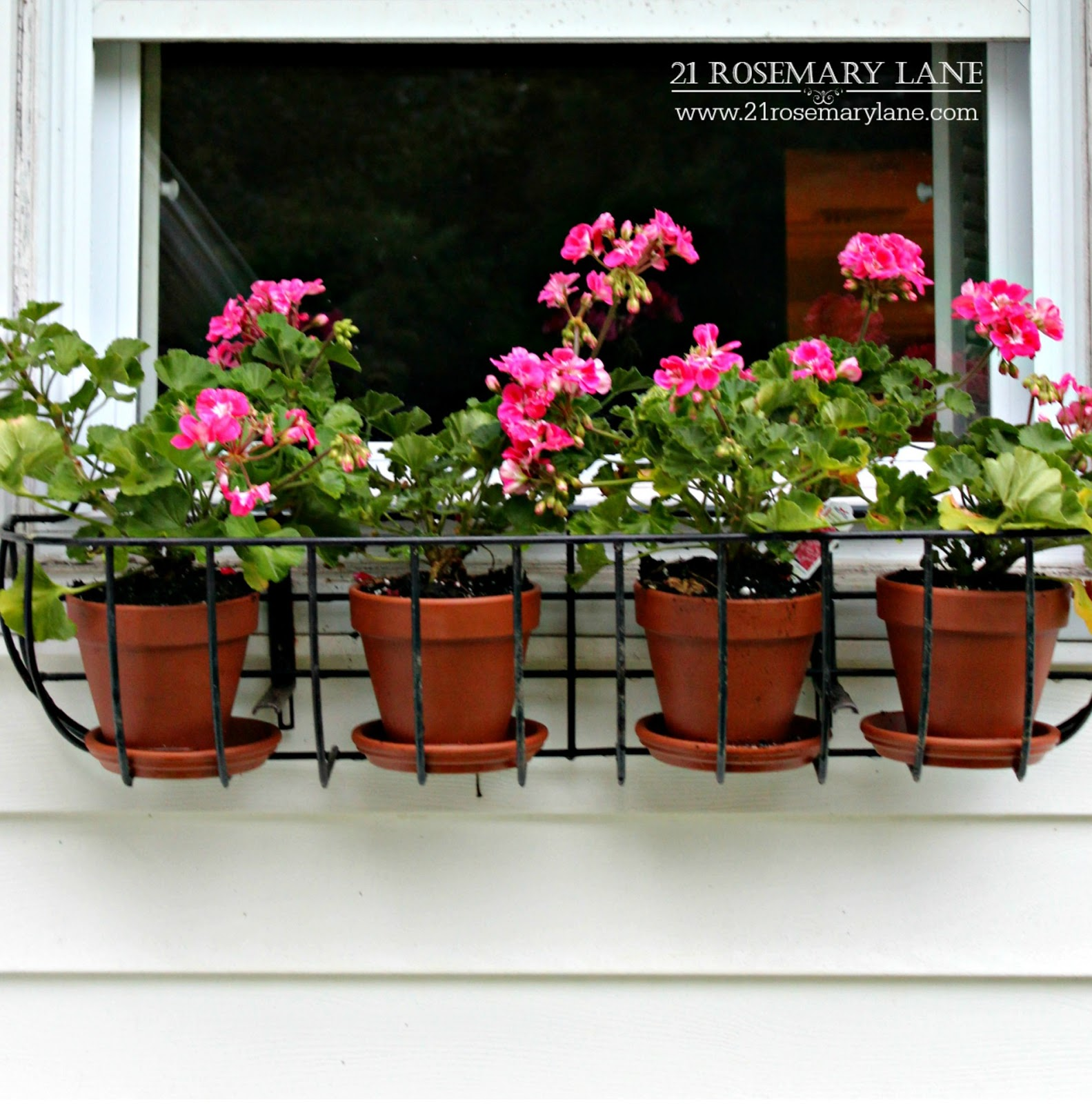 21 Rosemary Lane Using Clay Pots In Wire Planters As An Inexpensive