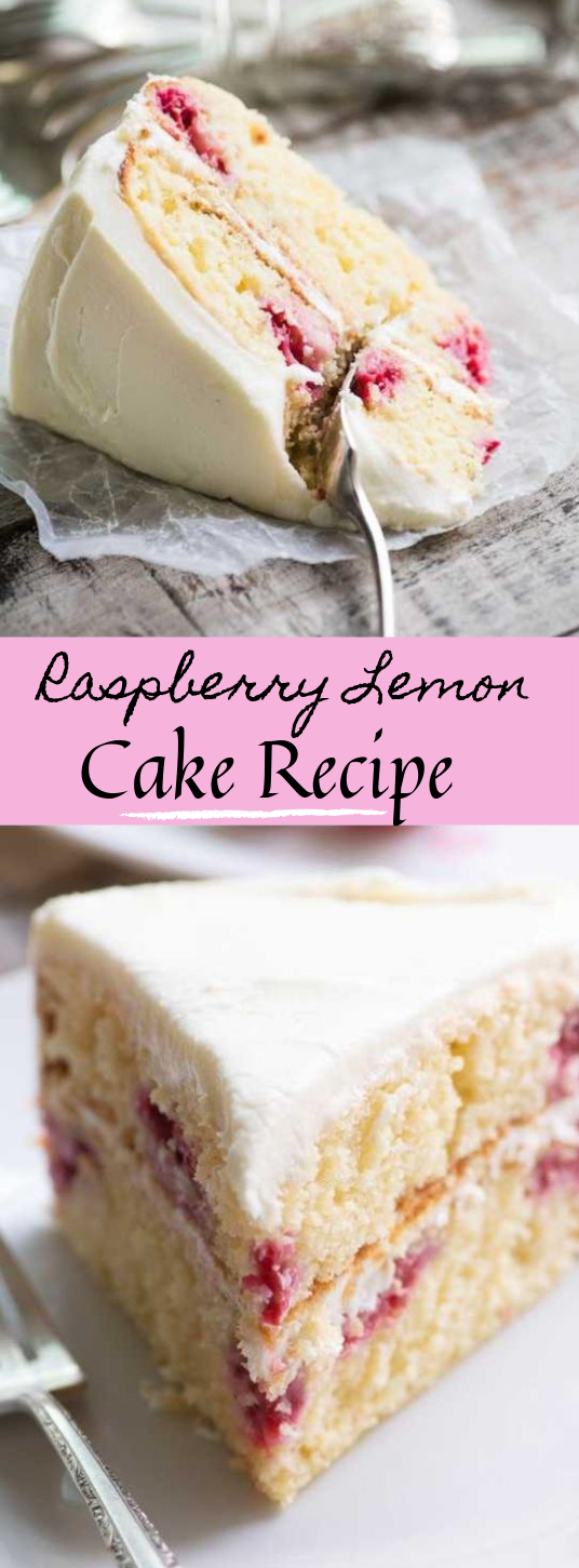 RASPBERRY LEMON CAKE #lemon #dessert