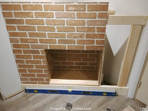 faux brick electric fireplace how to