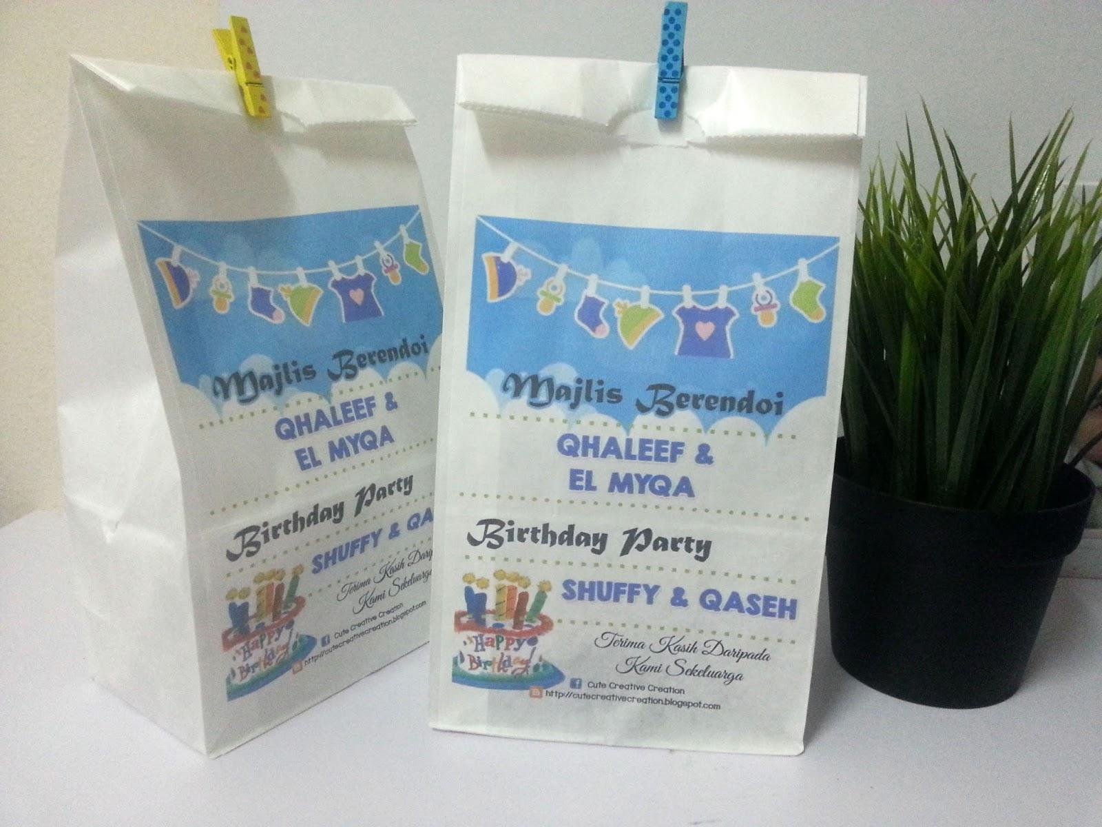 Goodies berendoi for Idea doorgift untuk aqiqah