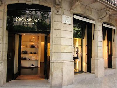 Yves Saint Laurent boutique in El Passeig de Gràcia