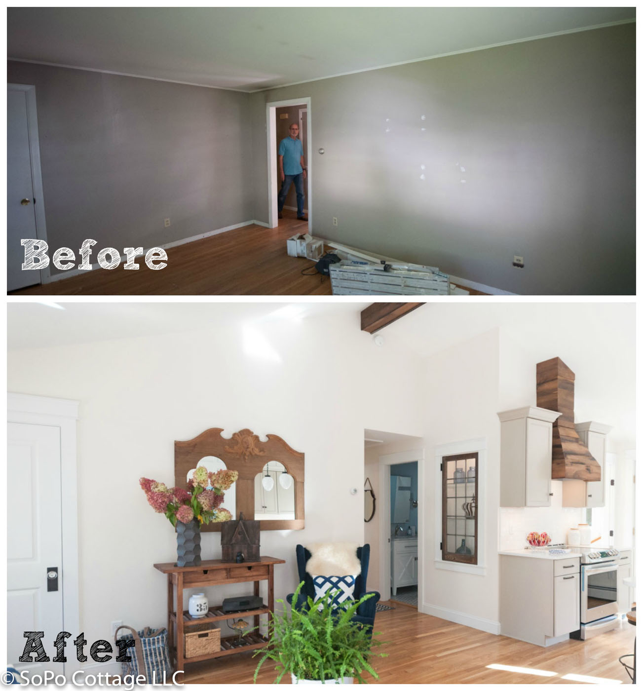 Before And After From Separate Rooms To Huge Open Plan: SoPo Cottage: Is It Possible To Transform A Boring Ranch