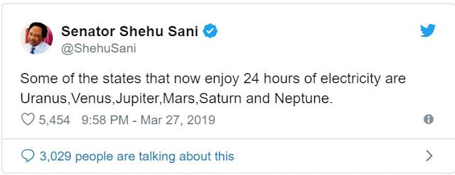 'States enjoying 24 hours power supply are in Mars' — Shehu Sani tackles Fashola