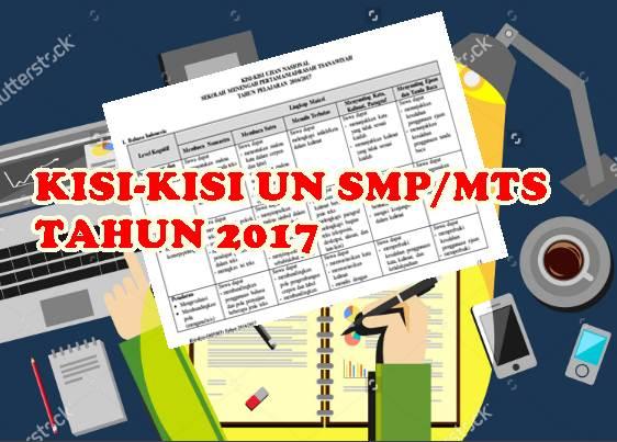 Kisi Kisi Ujian Nasional SMP/MTS Tahun 2017 dari BSNP