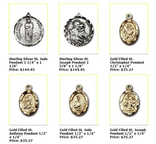 Patron Saints Jewelry: 2011