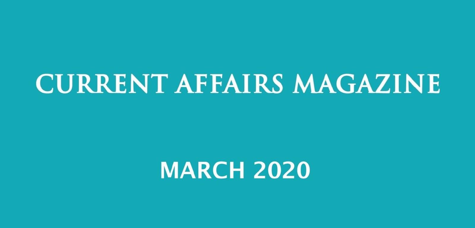 Current Affairs March 2020 iasparliament