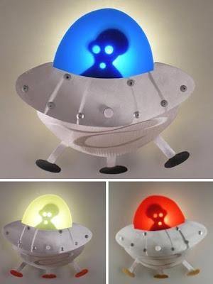 Diseño original de lamparas de noche extraterrestre
