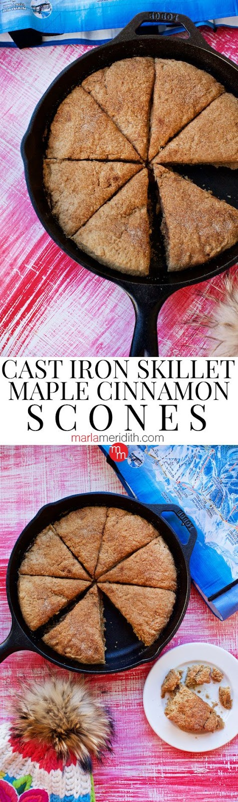 CAST IRON SKILLET MAPLE CINNAMON SCONES