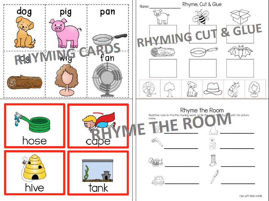 rhyming, rhyme time, time4kindergarten