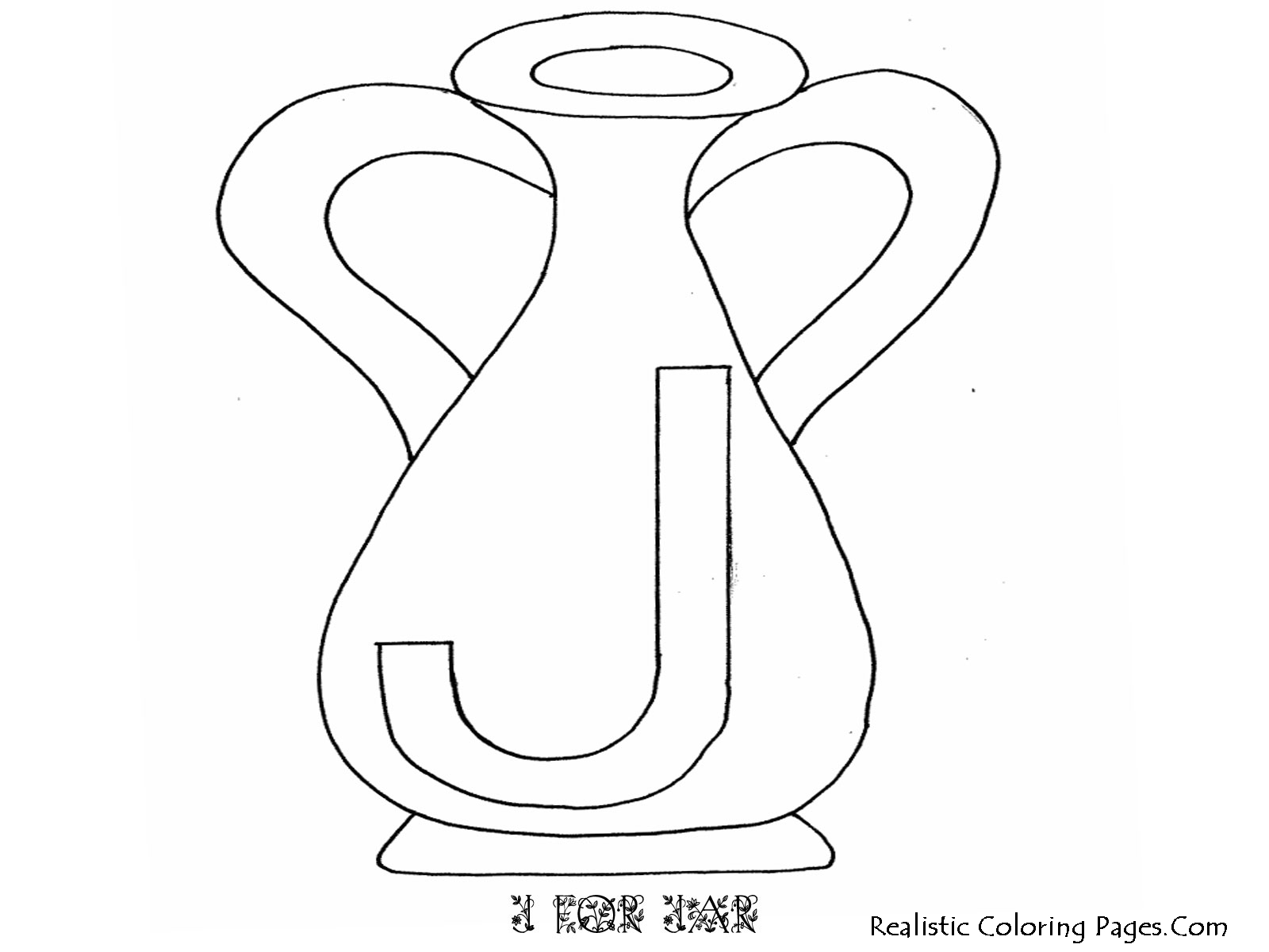 J Letters Animal Alphabet Coloring Pages