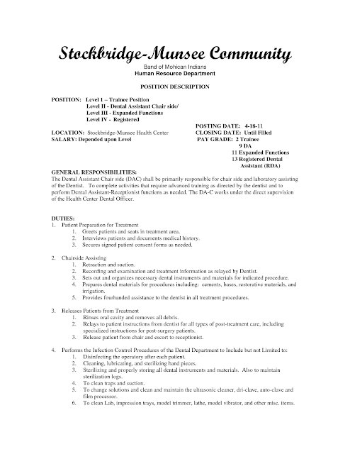 sample dental assistant resume sample resumes