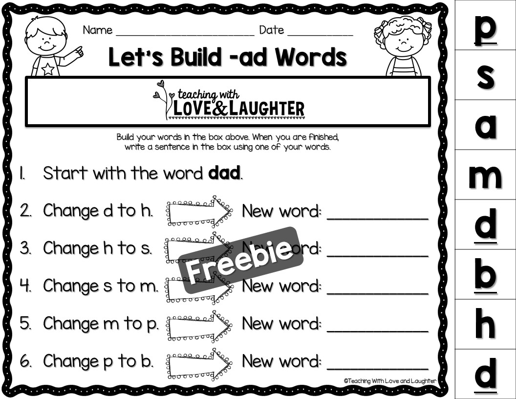 Teaching With Love And Laughter Word Building