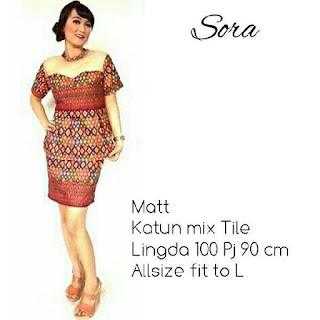 Kebaya Batik Sora Marun