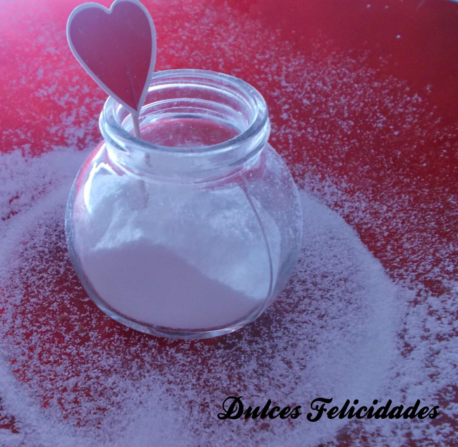 Azúcar glass casero