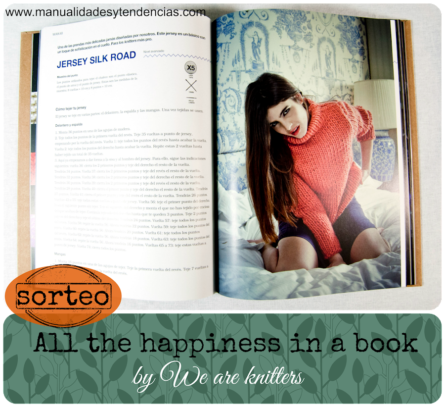 Sorteo del libro All the happinnes in a book de We are knitters