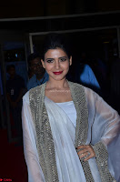 Samantha Ruth Prabhu cute in Lace Border Anarkali Dress with Koti at 64th Jio Filmfare Awards South ~  Exclusive 021.JPG