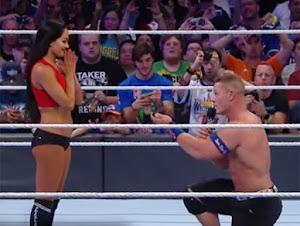 Thumbnail image for John Cena Lamar Kekasih, Nikki Bella Di Gelanggang Gusti WWE