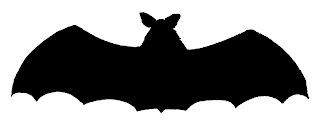halloween bat scary image silhouette digital clipart