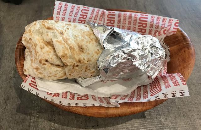 Burrito in foil wrapper