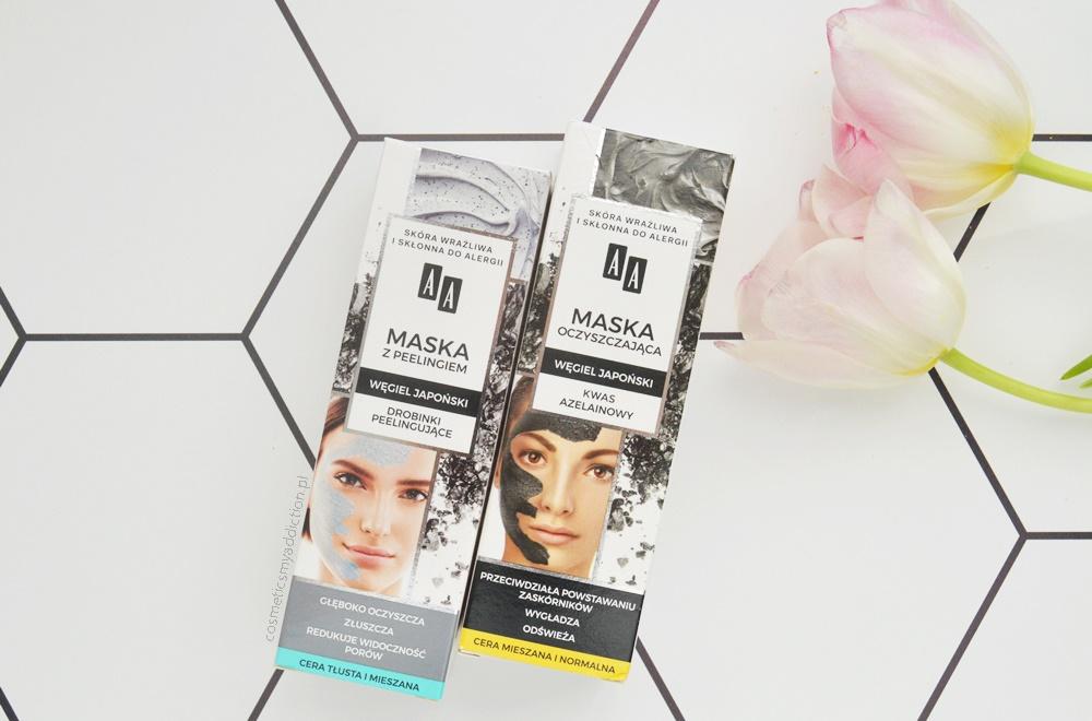 maska oczyszczająca węgiel japoński kwas azelainowy - aa detox