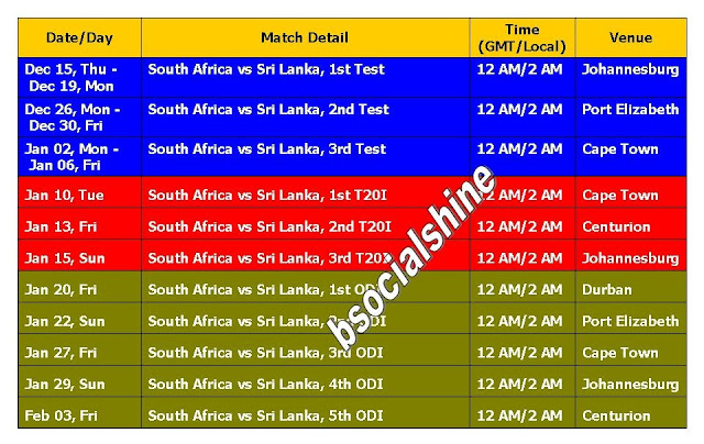 South Africa Vs Sri Lanka 2016 Schedule & Time Table,Sri Lanka tour of South Africa 2016-17 fixture,schedule,time table,match detail,GMT,IST,local,venue,South Africa Vs Sri Lanka 2016 Schedule,tour,cricket schedule,South Africa Vs Sri Lanka series detail,t20,odi,test,full schedule,SRI Vs. SA 2016 fixture,cricket calender 2016,Sri lanka vs south africa series,matches,detail