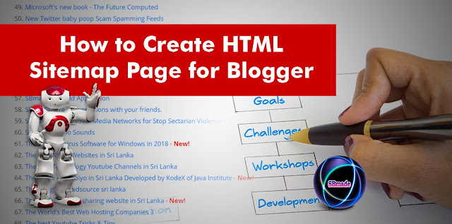 How To Create HTML Sitemap Page For Blogger