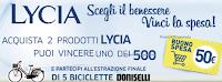 Logo Con Lycia vinci 500 buoni spesa da 50€ e 5 biciclette Doniselli