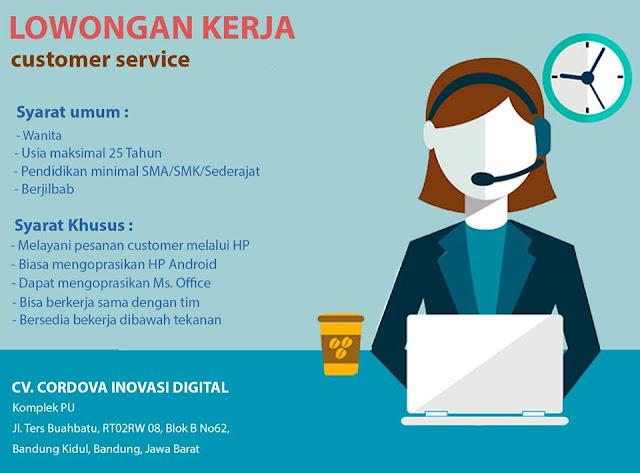 Lowongan Kerja Customer Services di Bandung