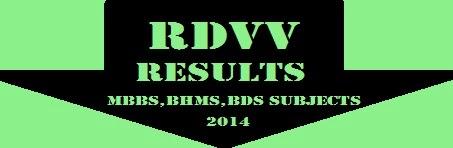 RDVV MBBS,BDS,BHMS Results 2019 All Semester - Gktricks in