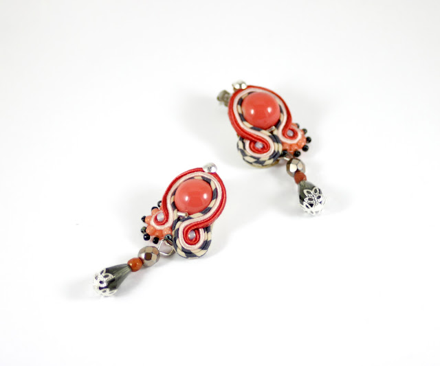 orange jewelry earrings soutache