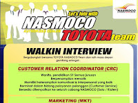 Lowongan Kerja Customer Relation Coordinator, Marketing dan Marketing Counter Nasmoco Juni 2016